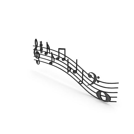 Plastic Music Notes Waves