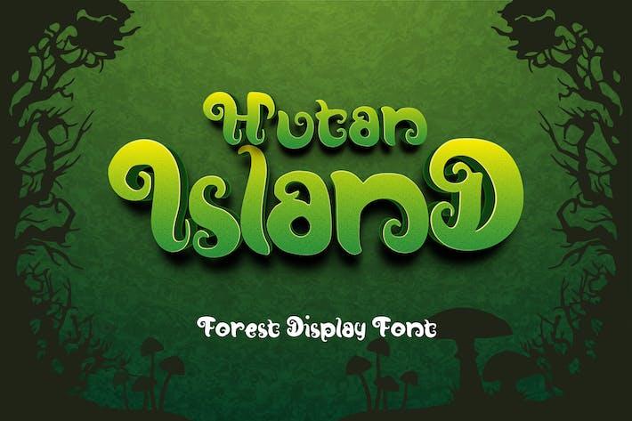 Fuente de visualización del bosque de la isla hután