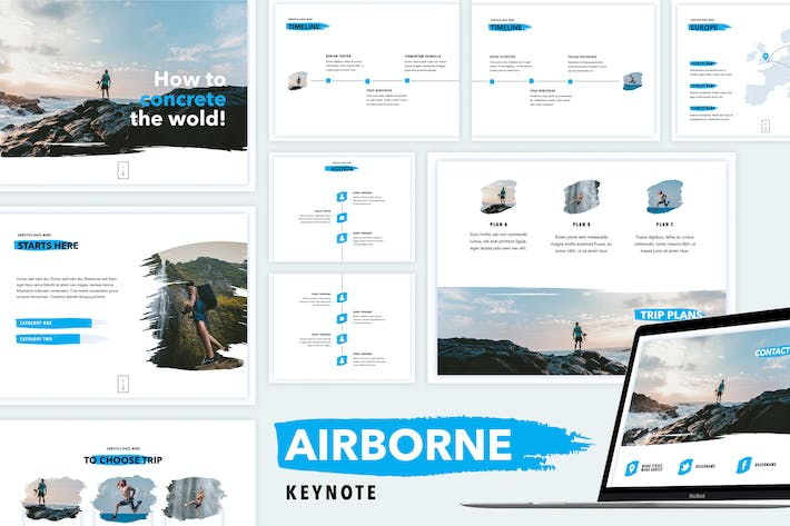 Thumbnail for Airborne Keynote Template