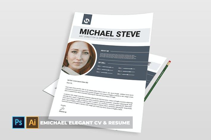 Thumbnail for Emichael Elegant | CV & Resume