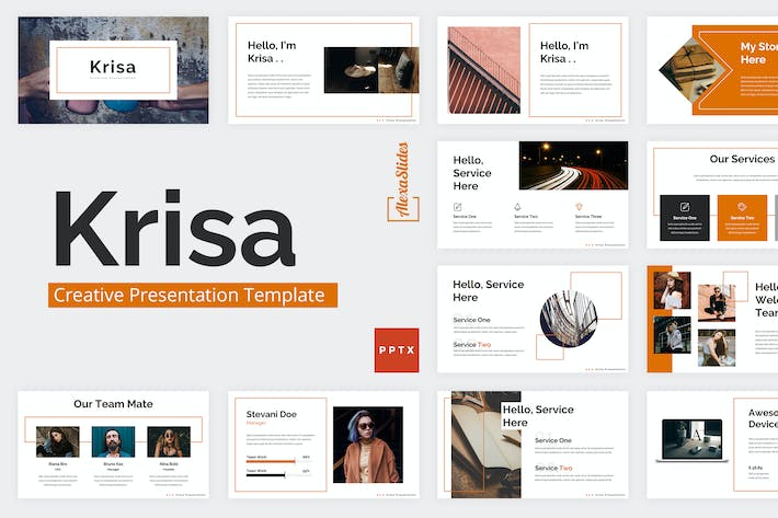 Thumbnail for Krisa - Creative Powerpoint Template