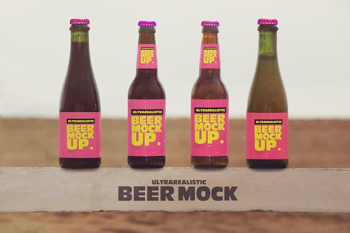 Thumbnail for Multiple Beach Beer Mockup