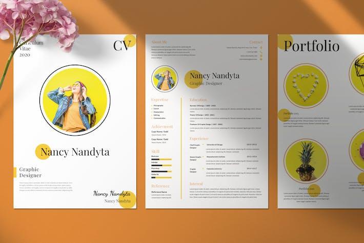 Cover Image For Clean Resume / CV Portfolio
