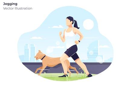 Jogging - Ilustración Vector