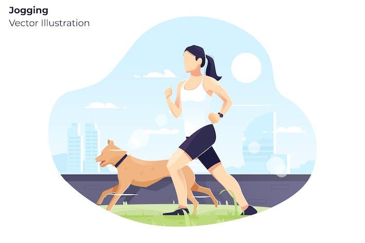Thumbnail for Jogging - Vector Illustration