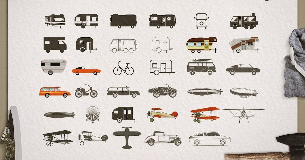 Download Transportation Silhouette / Color Symbols / Icons by JeksonJS