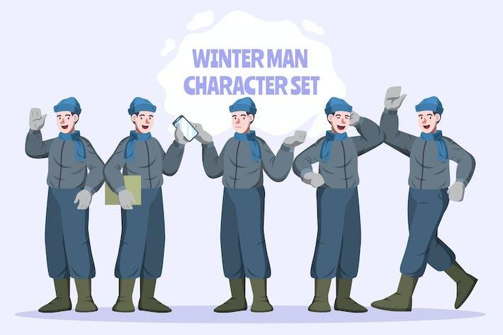Winter Man - Character Set Illustration