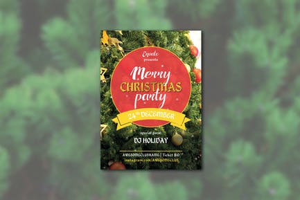 Merry Cristmas Party Flyer A4