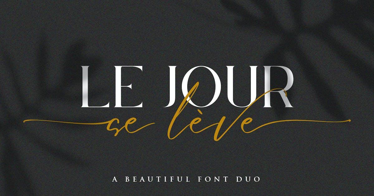 Download Le Jour - Font Duo by Din-Studio