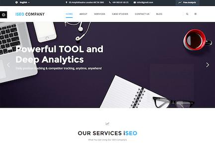 iSeo, Digital Marketing, Social Media HTML Templat