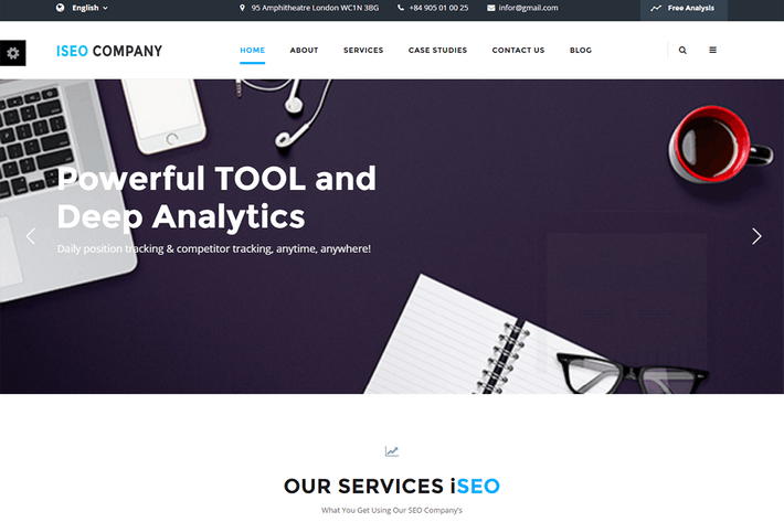 Thumbnail for iSeo, Digital Marketing, Social Media HTML Templat
