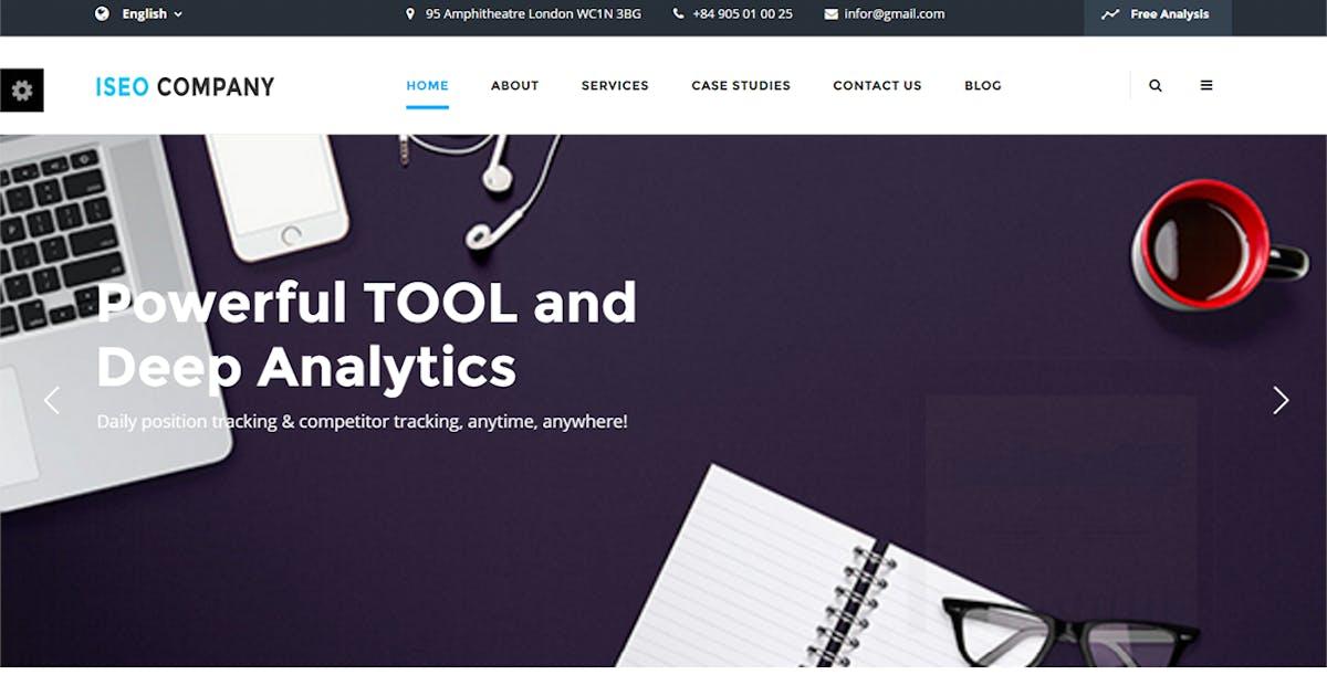 Download iSeo, Digital Marketing, Social Media HTML Templat by themesflat