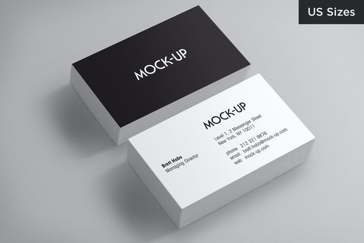 Thumbnail for Business Card Mockups - US Sizes