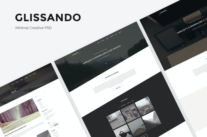 Thumbnail for Glissando - Minimal Creative PSD Template