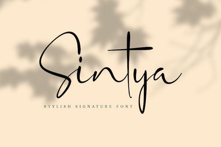 Police Signature élégante Sintya