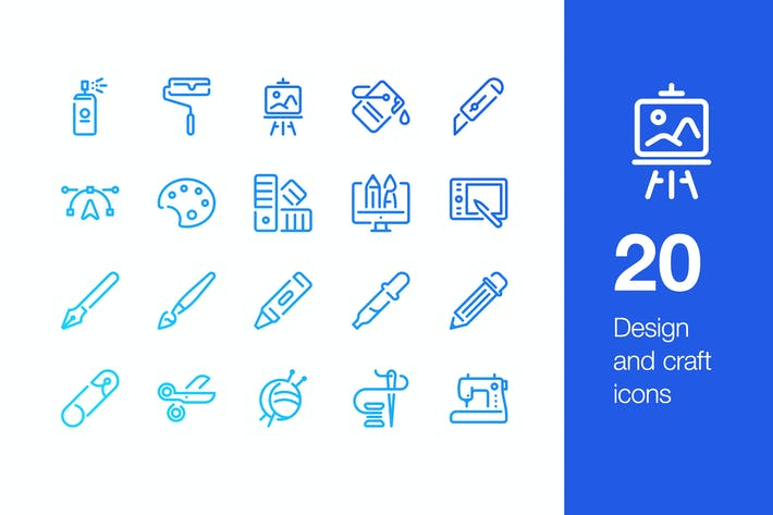 Thumbnail for 20 Design and craft icons