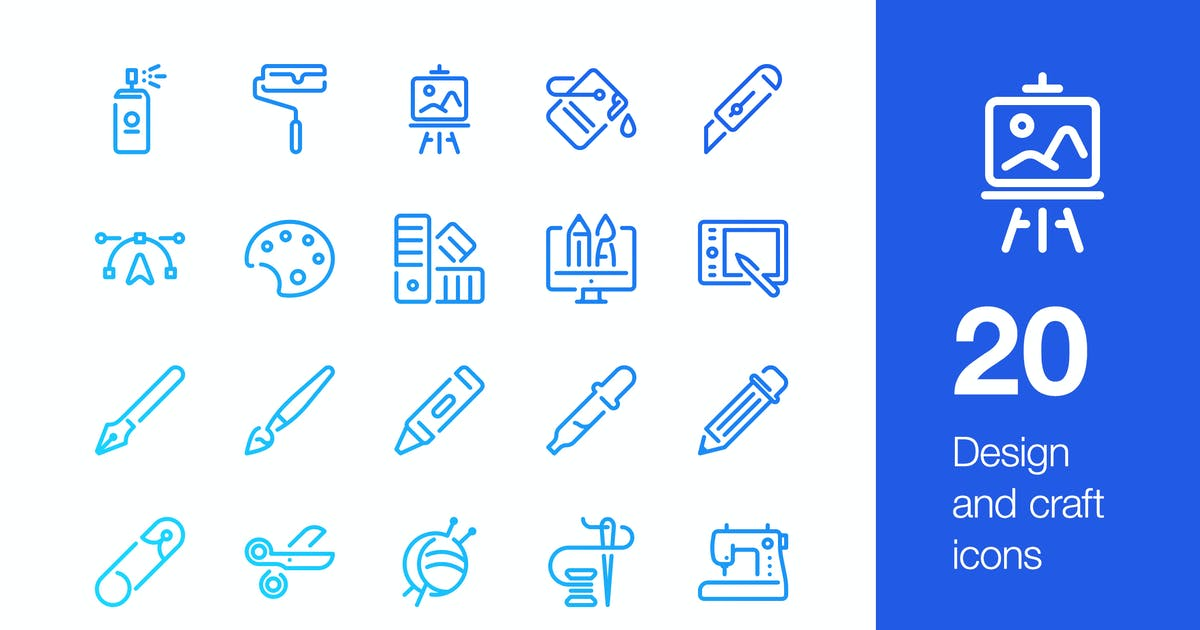 Download 20 Design and craft icons by mir_design