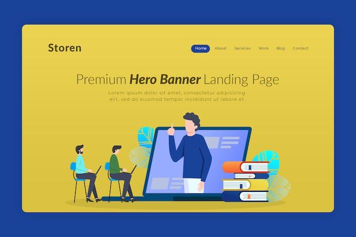 Thumbnail for Storen - Hero Banner Template
