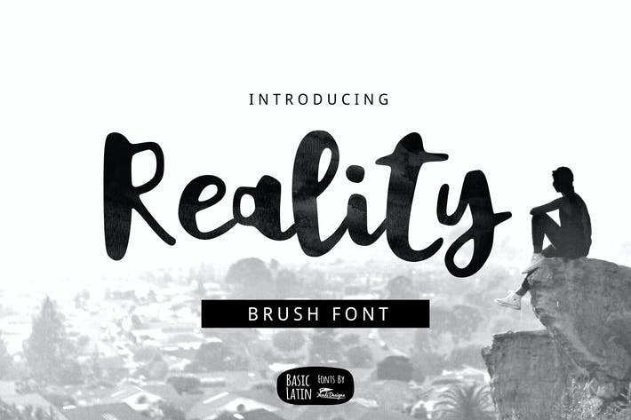 Cover Image For Reality Brush Font