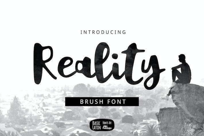 Thumbnail for Reality Brush Font