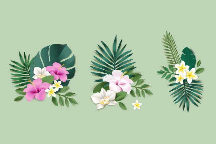 Thumbnail for Set of flower illustrations