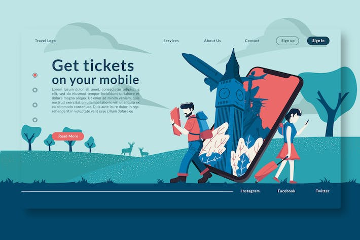 Thumbnail for Get tickets on your mobile Set - Landing Page GR