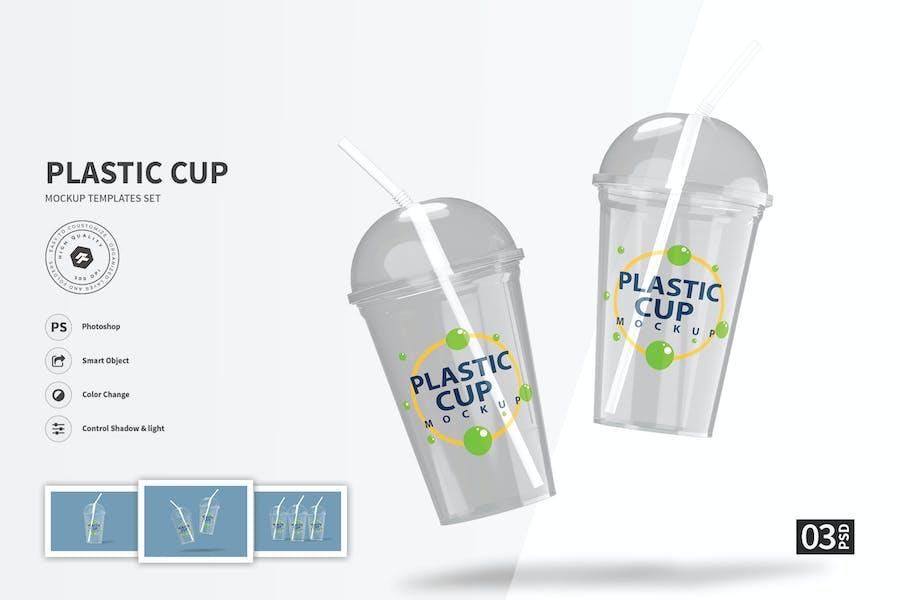 Plastic Cup - Mockup Template Set FH