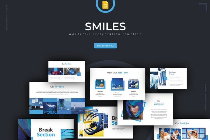 Thumbnail for Smiles - Google Slides Template