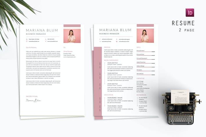 Thumbnail for Blum Manager Resume Designer