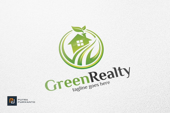 Thumbnail for Green Realty / House - Logo Template