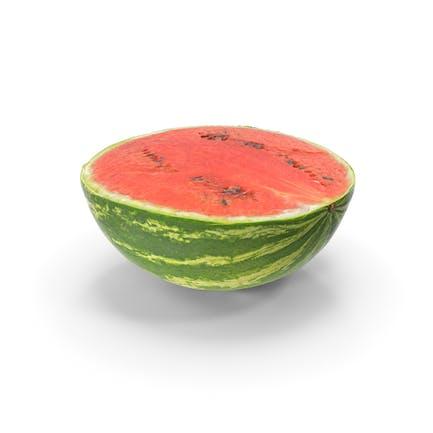 Wassermelone Halbscheibe Realistisch