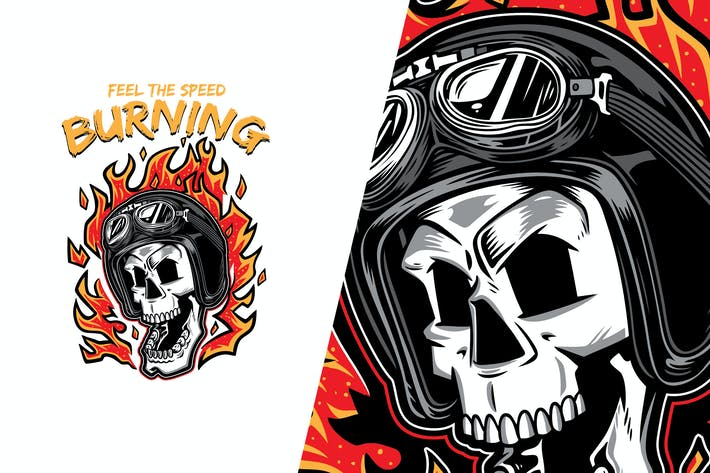 Skull Speed Burning