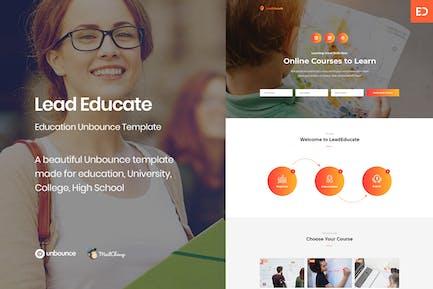 LeadEducate - Образование Unbounce целевой страницы