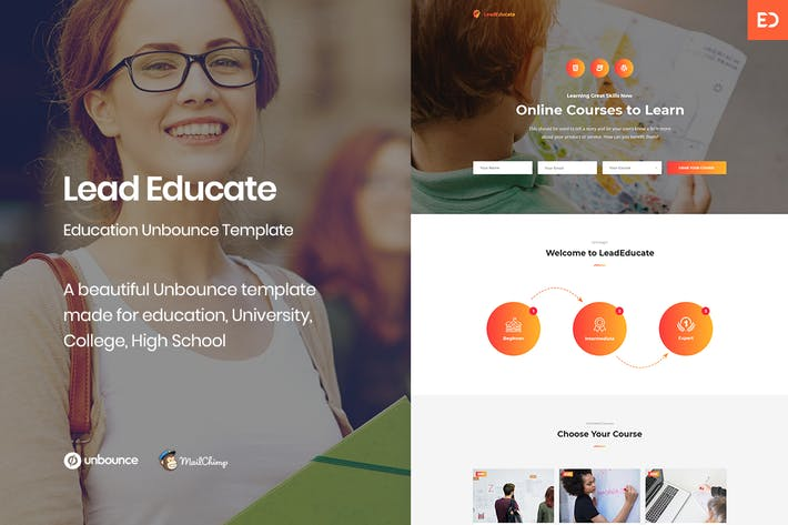 Thumbnail for LeadEducate - Education Unbounce Landing Page