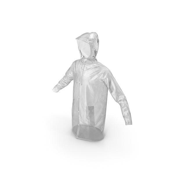 Transparenter Regenmantel wasserdicht