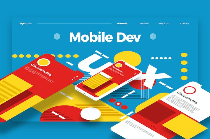 Thumbnail for Mobile Developement - Banner & Landing Page