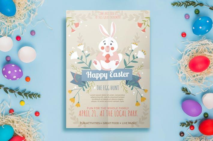 Thumbnail for Modèle de dépliant à œuf de Pâques