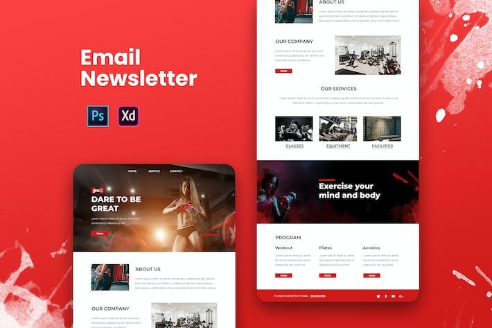 Thumbnail for Fitness Email Newsletter