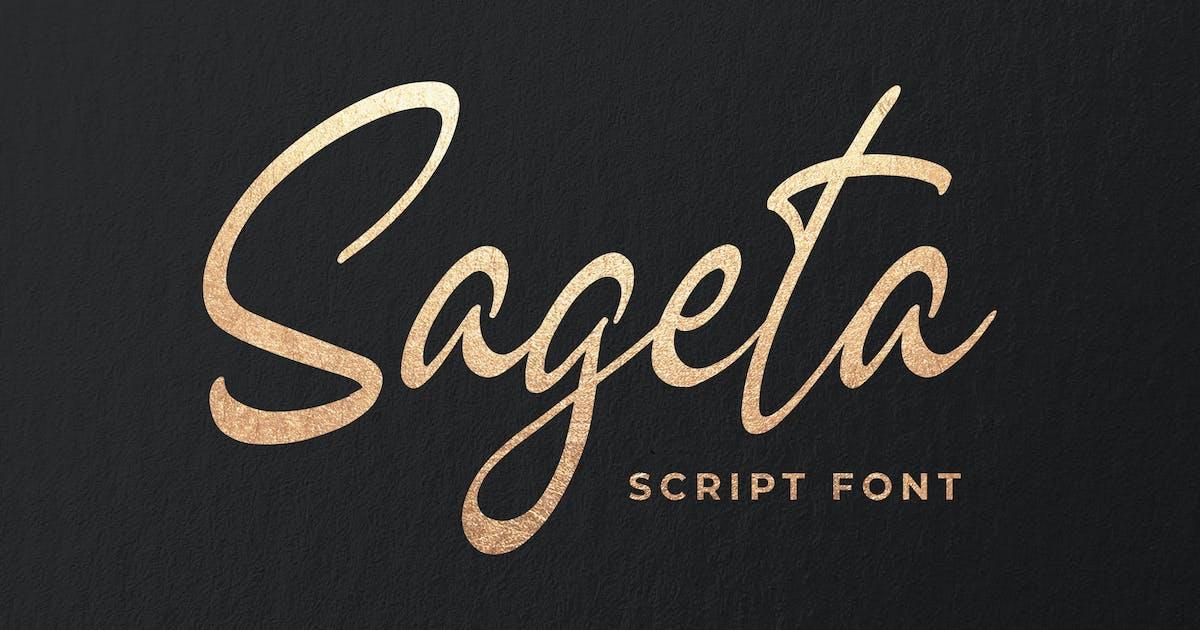 Download Sageta - Luxury Script Font by Blankids
