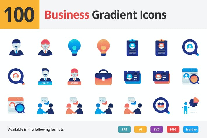 Thumbnail for Business Employment Vector Gradient Icons