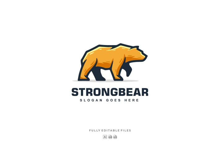 Thumbnail for Bear Mascot Logo Template