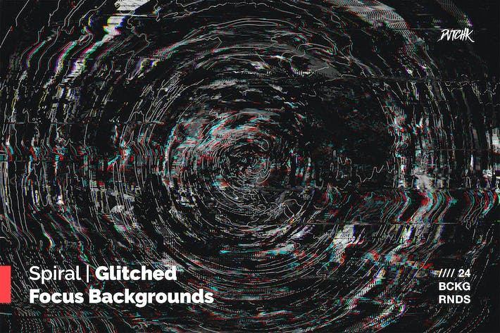 Thumbnail for Spiral | Glitched Focus Backgrounds