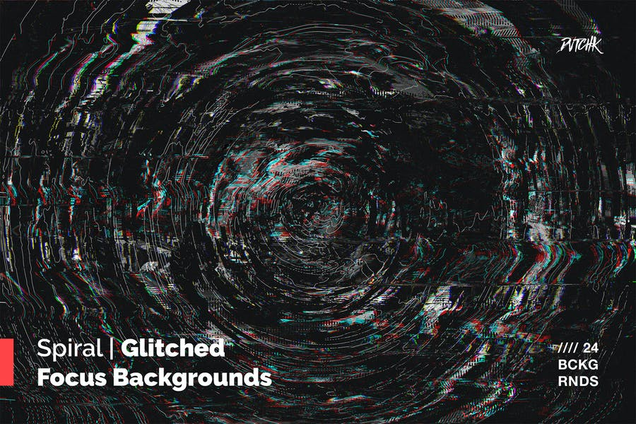 Spiral | Glitched Focus Backgrounds
