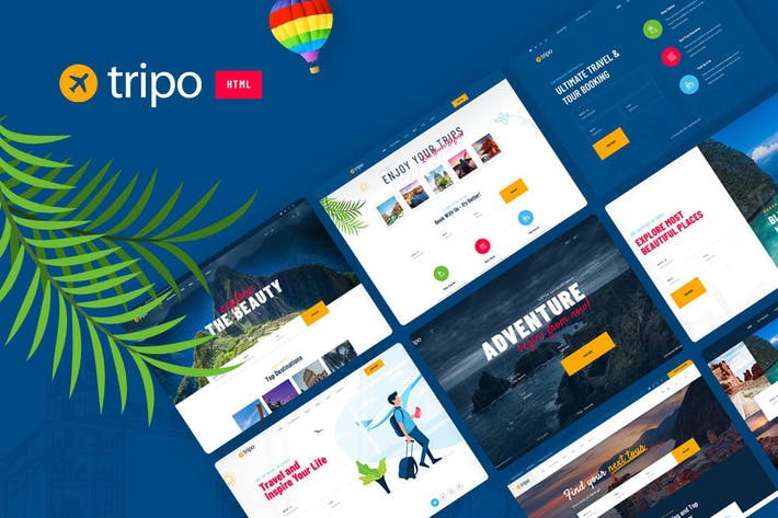 Thumbnail for Tripo - HTML Template For Travel & Tourism