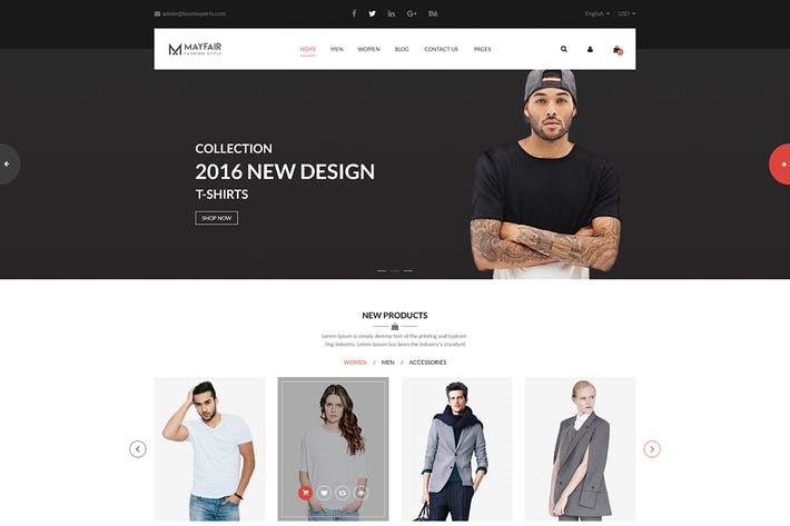 Thumbnail for Mayfair - eCommerce PSD Template