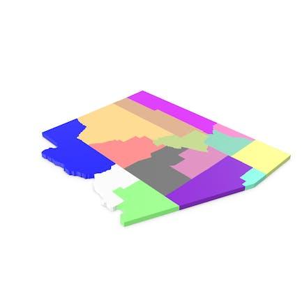 Аризона Карта округов