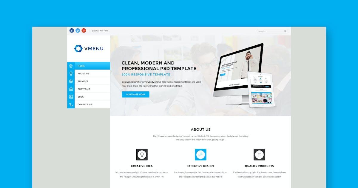 Download Vertical Menu - Responsive HTML Template by PremiumLayers