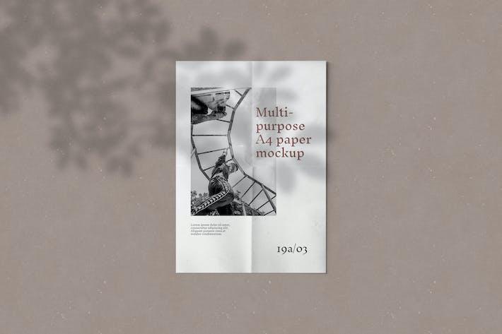 Thumbnail for Multipurpose A4 Paper Mockup