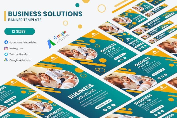Thumbnail for Business Solution Banner Social Media Template