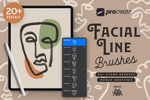 Procreate Facial Line Brushes